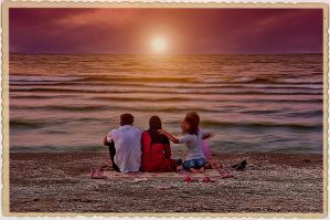 Family in sunset by danandeh