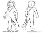 Plantigrade Lion - Free Character template by temperance