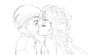 ElsAnna - Frozen- Kiss Disney Style by Shizuru1412