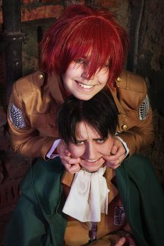 Let's smile, Rivaille by OpiumKyo