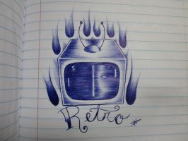 Retro Tattoo Sketch by FalloutLuver13