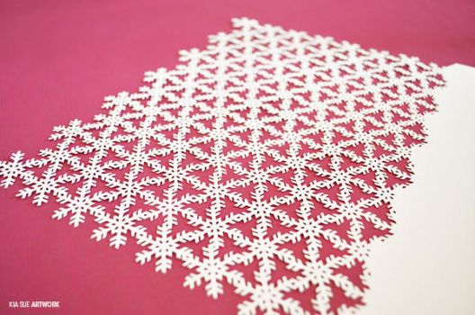 snow papercut pattern #3 by KiaSuee