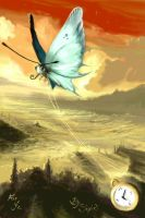 The butterfly and the clock by Sixio