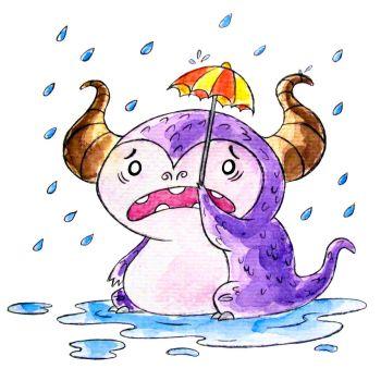 Monster of the Day #1190 Rainy Dragon Monster! by jurries21