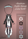 (closed)  Outfit Auction - Cute Goth by CherryAdopt