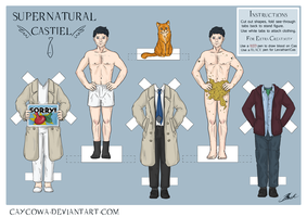 Supernatural - Castiel paper doll by caycowa
