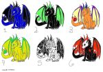 Free Adoptable Dragons by SkyeForeverAlone