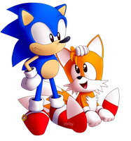 Sonic and Tails by Zoiby