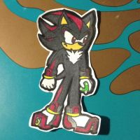 Shadow the Hedgehog paperchild thingy x3 by TotalChaosMeg