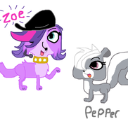 Zoe and Pepper by xCloverChanx
