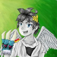 Kid Icarus Uprising, Pit with Raptor Claws by Kitsooki