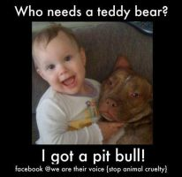 Pitbulls and kids by rayven0066
