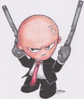 Agent 47 Color version by SpaniardWithKnives