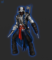 Ponyfied Connor Kenway by Lucandreus