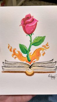 Book and rose by Silvestrin