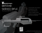 HALO - BR55HB Service Rifle Paper Model Kit by RocketmanTan