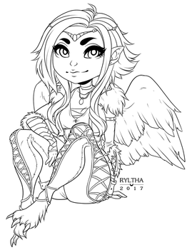 Minx / Lineart by Ryltha