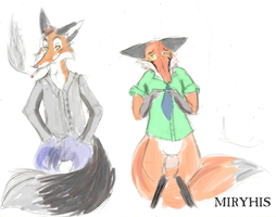 The Foxes by miryhis