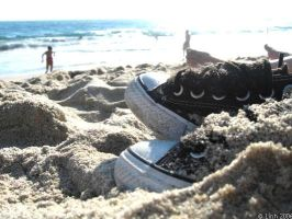 Converse at the Beach by OhMyItsLinh
