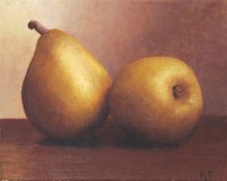 My First Painting: Pears by Keriberrygirl