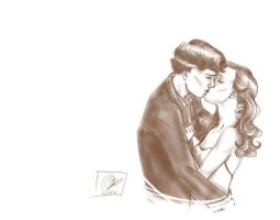Sherlolly sketch - kiss by lexieken