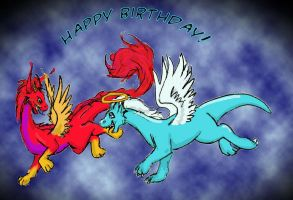 Birthday Dragons by applescruff