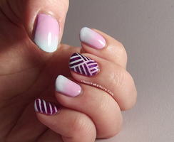 Pastel Gradient Meets Stripes by Ithfifi