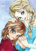 Disney Frozen: Summer and Winter by RabenKaras