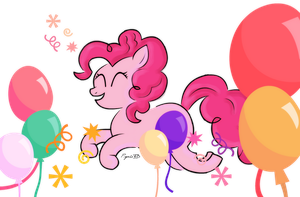 Pinkie Pie Party by PsychoTD