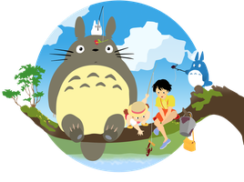 My Neighbor Totoro Vector by firedragonmatty
