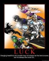 Teen Titans:Luck---Motivation? by eastsidebebop