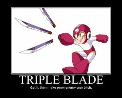 Triple Blade Motivator by ZarelTheWindDragon
