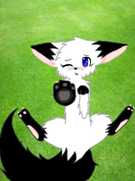 .:Chibi Fox Time:. Paw The Screen..? by Jannet-Teh-Kitty