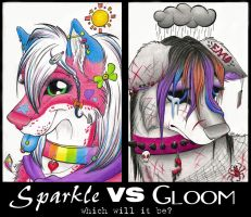 Sparkle VS Gloom by sepher77