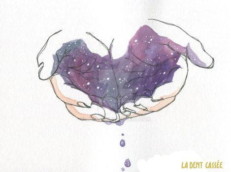 Croquis - Etoiles dans les mains by My-anh