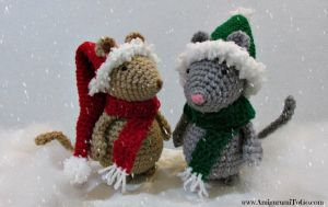 Christmas Mice Free Patterns by sojala