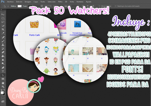 Pack 50 Watchers! by CarliiEditions