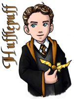 Hufflepuff Badge by ScuttlebuttInk
