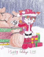Happy Holidays! From Jewel the Reindeer :) by Jewel-Shapeshifter