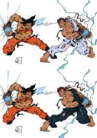 Goku vs Ryu-Evil Ryu by BrokenJoker69
