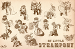 Steampony Poster by bunnimation