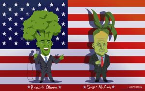 Broccoli Obama + Sugar McCain by LCibos