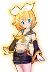 Colored:Kagamine Rin by Haku-Senshi