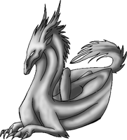 Dragon Relax Pose by Annatiger1234