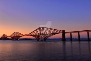 Evening light over the Forth Bridge by VulcanPics