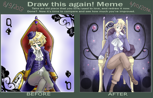 draw again meme -  Before And After by Mi-chan4649