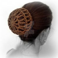 Ballet Snood on Bun by MadameWario