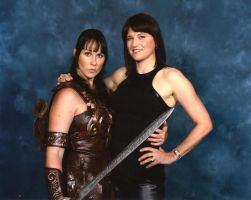 Xena and Lucy Lawless by ModernXena