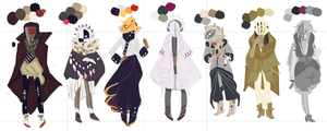 Colored Outfits by square-root