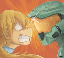 RQ - Samus VS Master Chief by ayyk92